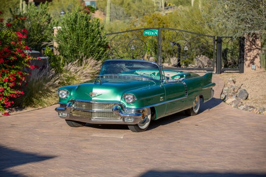 A 1956 Cadillac Eldorado Biarritz convertible will be go to auction at the Mecum Auctions show in Glendale on March 14-17, 2019.