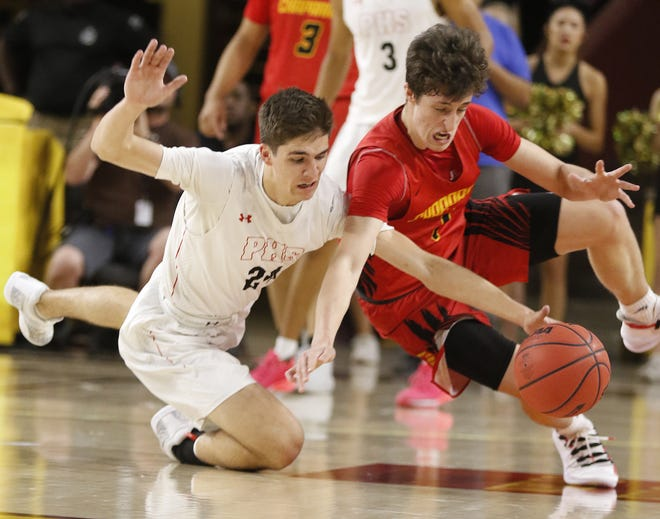 Alem Huseinovic (right, in red) is leaving Chaparral for a new Phoenix prep academy.