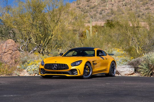 A 2018 Mercedes-Benz AMG GT R will hit the auction block at Glendale's first Mecum Auctions show at State Farm Stadium on March 14-17, 2019.