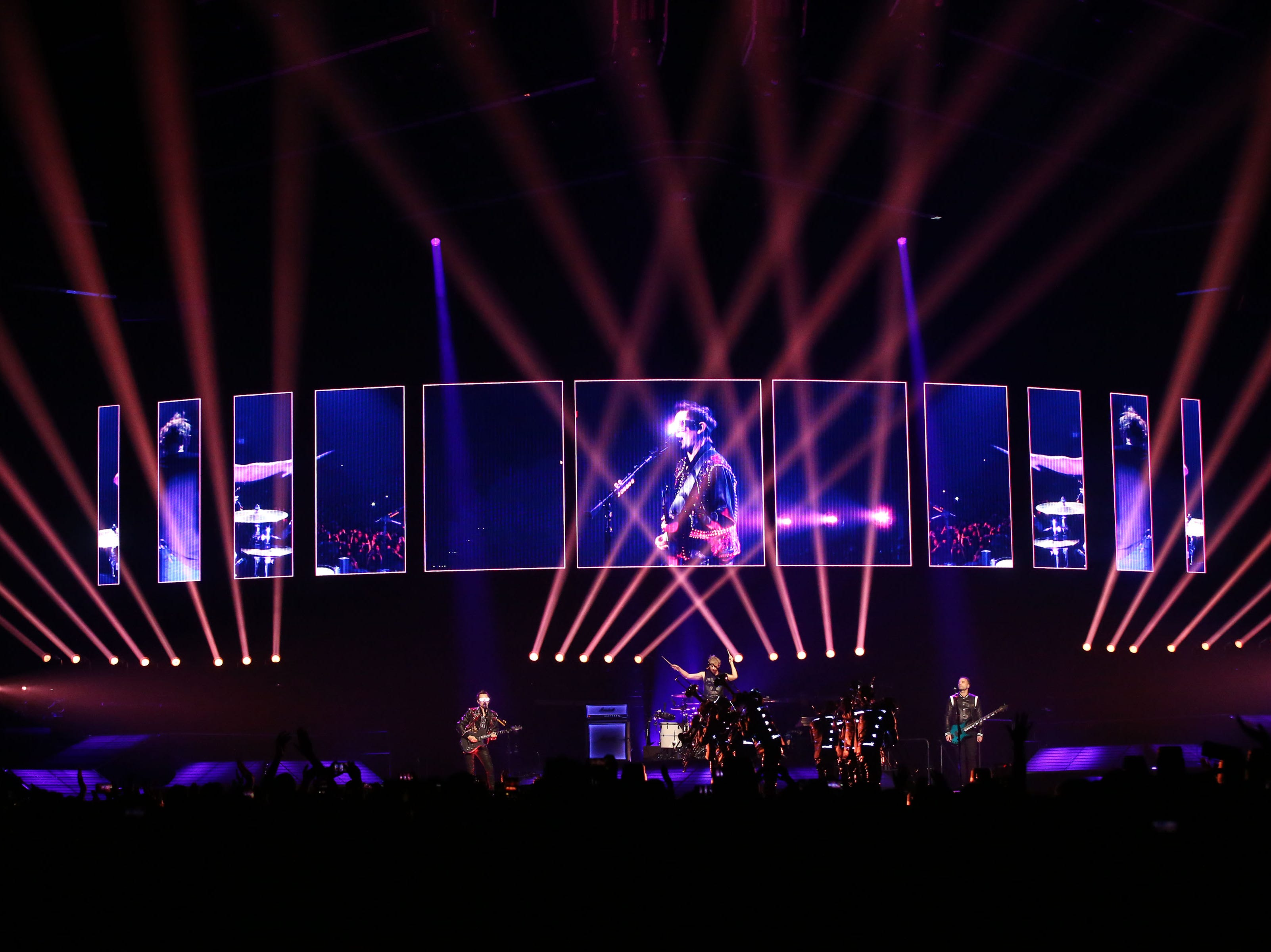 Muse performs during their Simulation Theory World Tour on Feb. 26, 2019 at Talking Stick Resort Arena in Phoenix, Ariz.