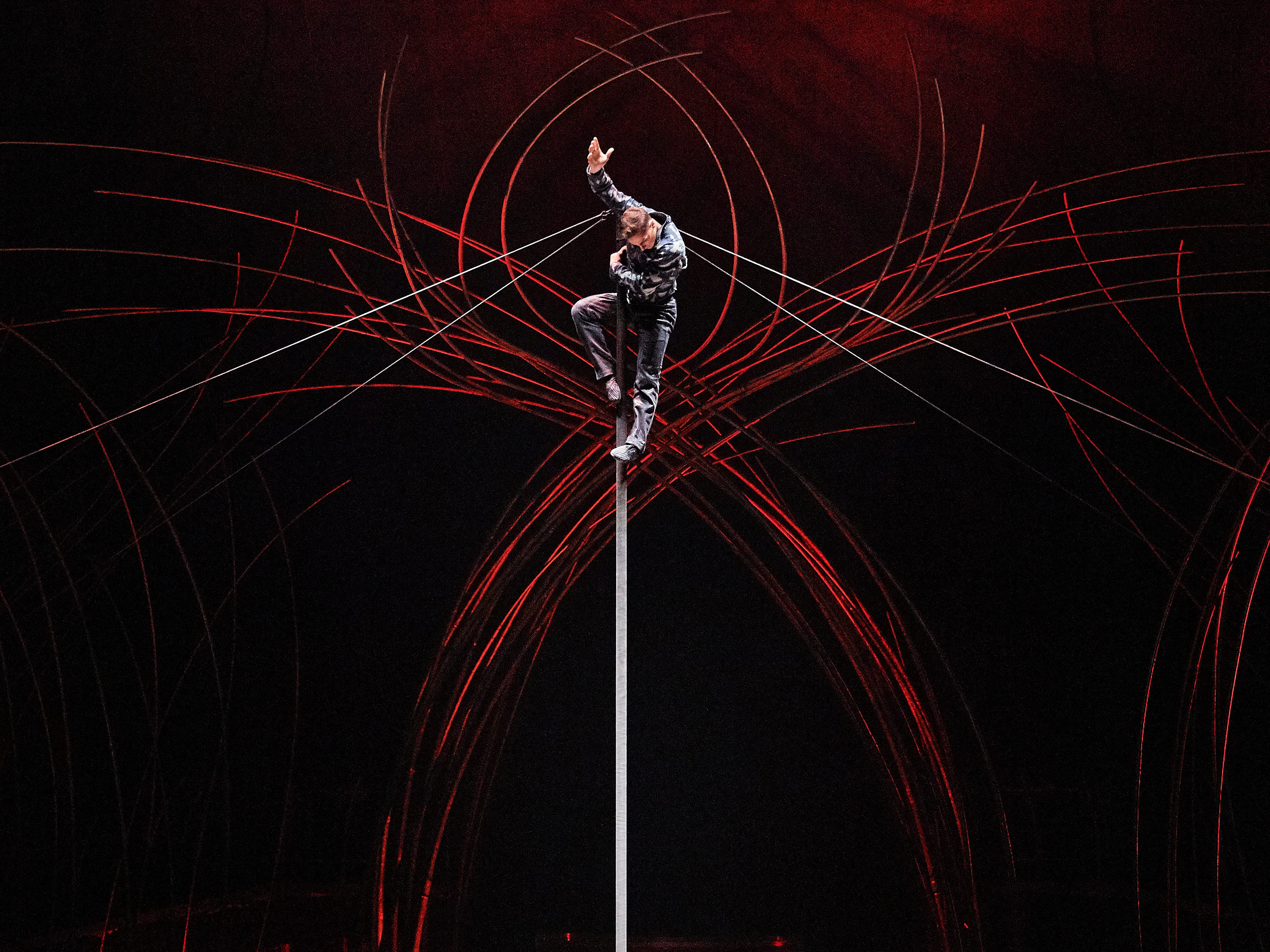 """The Chinese pole is featured in Cirque du Soleil's """"Amaluna."""""""