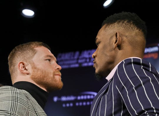 "Saul ""Canelo"" Alvarez faces Daniel Jacobs in Las Vegas on May 4, 2019."