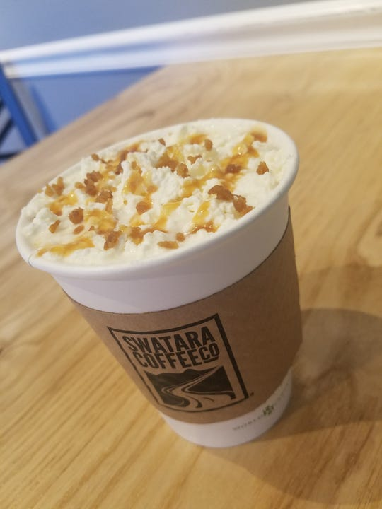 The hazelnut praline latte is one of seven new varieties entered into Swatara Coffee Company's March Madness competition.
