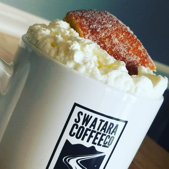 The fastnacht latte is available at Swatara Coffee Company in Jonestown through March 5.