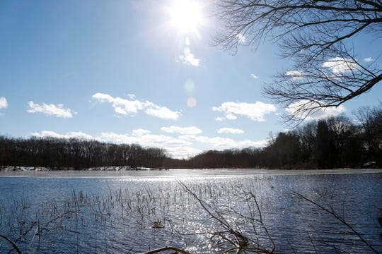 Lake Walton which is beside the William R. Steinhaus Dutchess Rail Trail in East Fishkill on February 26, 2019. The lake is roughly 1.5 miles from the Hopewell Depot and about 1 mile from the Lake Walton parking lot.