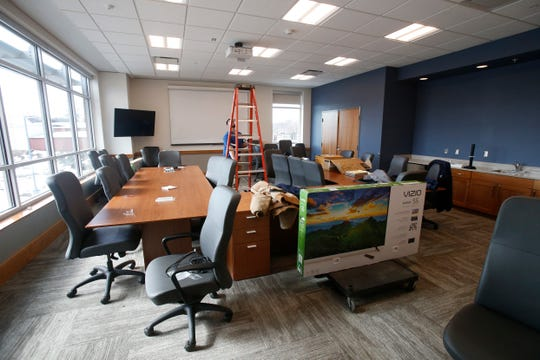 A conference room inside the Dutchess Law Enforcement Center on February 26, 2019.