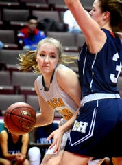 Katy Rader, seen here in a file photo, is the only York Catholic girls' basketball player averaging in double figures. She's averaging 10.6 points per game.