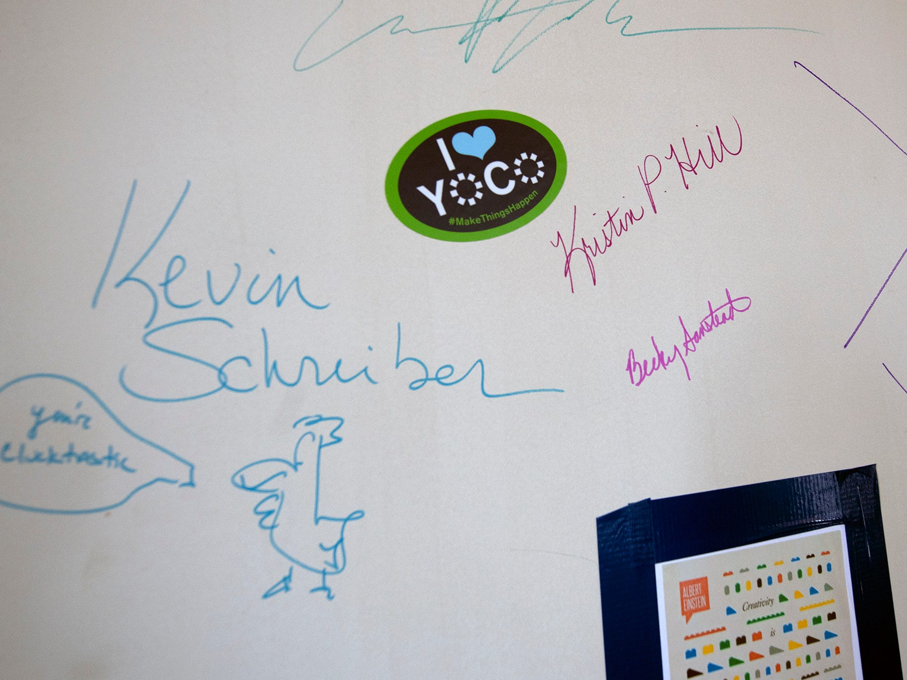 Notable visitors have signed a wall during the fund raising. The York Armory, a brick fortress built in 1913 once used by the Pa. National Guard, will soon be transformed into Keystone Kidspace, an educational experience for families. It's expected to open in 2020.