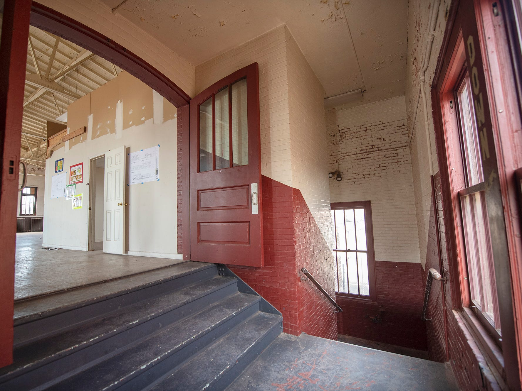 The character of the historic building can be seen in a stairwell to the second floor. The York Armory, a brick fortress built in 1913 once used by the Pa. National Guard, will soon be transformed into Keystone Kidspace, an educational experience for families. It's expected to open in 2020.