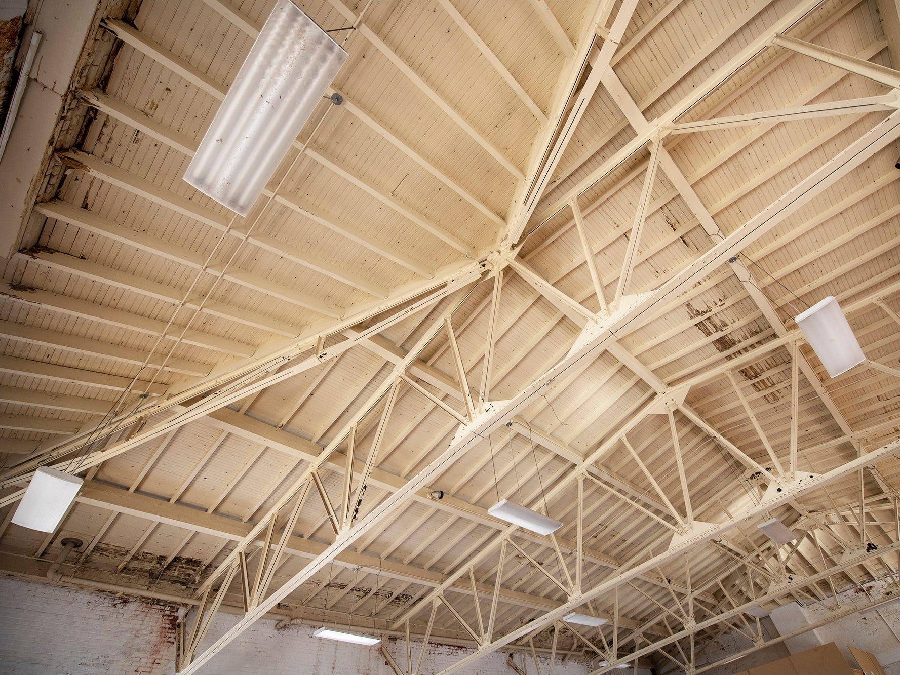 The second floor gym of the old armory will retain the exposed truss work on the ceiling. The York Armory, a brick fortress built in 1913 once used by the Pa. National Guard, will soon be transformed into Keystone Kidspace, an educational experience for families. It's expected to open in 2020.