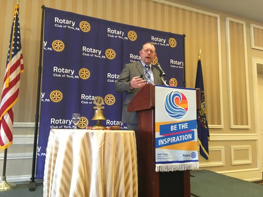 Michael Keiser, executive director for PennDOT District 8, spoke to the Rotary Club of York on Thursday about Interstate 83 improvements, including the Mount Rose Avenue project.