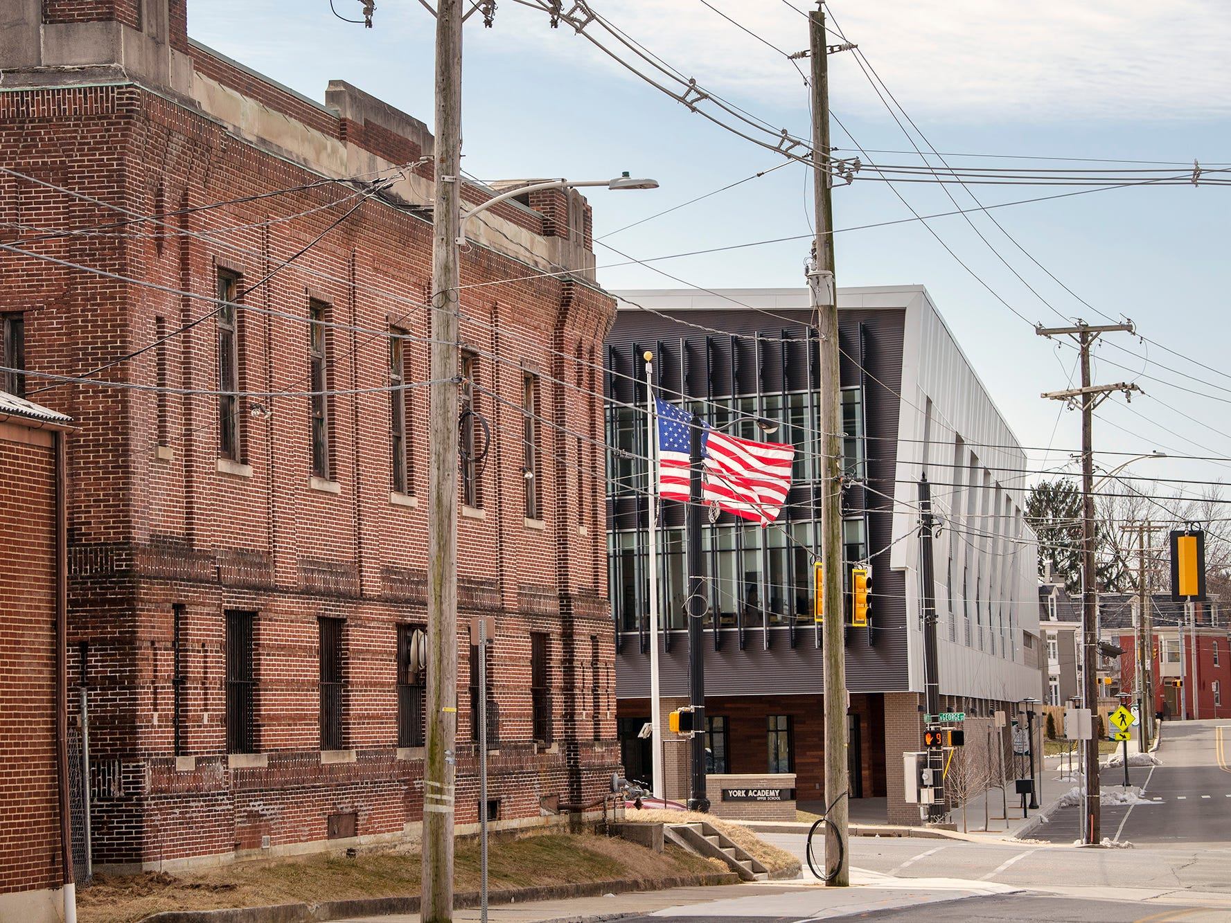 The York Academy building can be seen across the street from the armory. The York Armory, a brick fortress built in 1913 once used by the Pa. National Guard, will soon be transformed into Keystone Kidspace, an educational experience for families. It's expected to open in 2020.