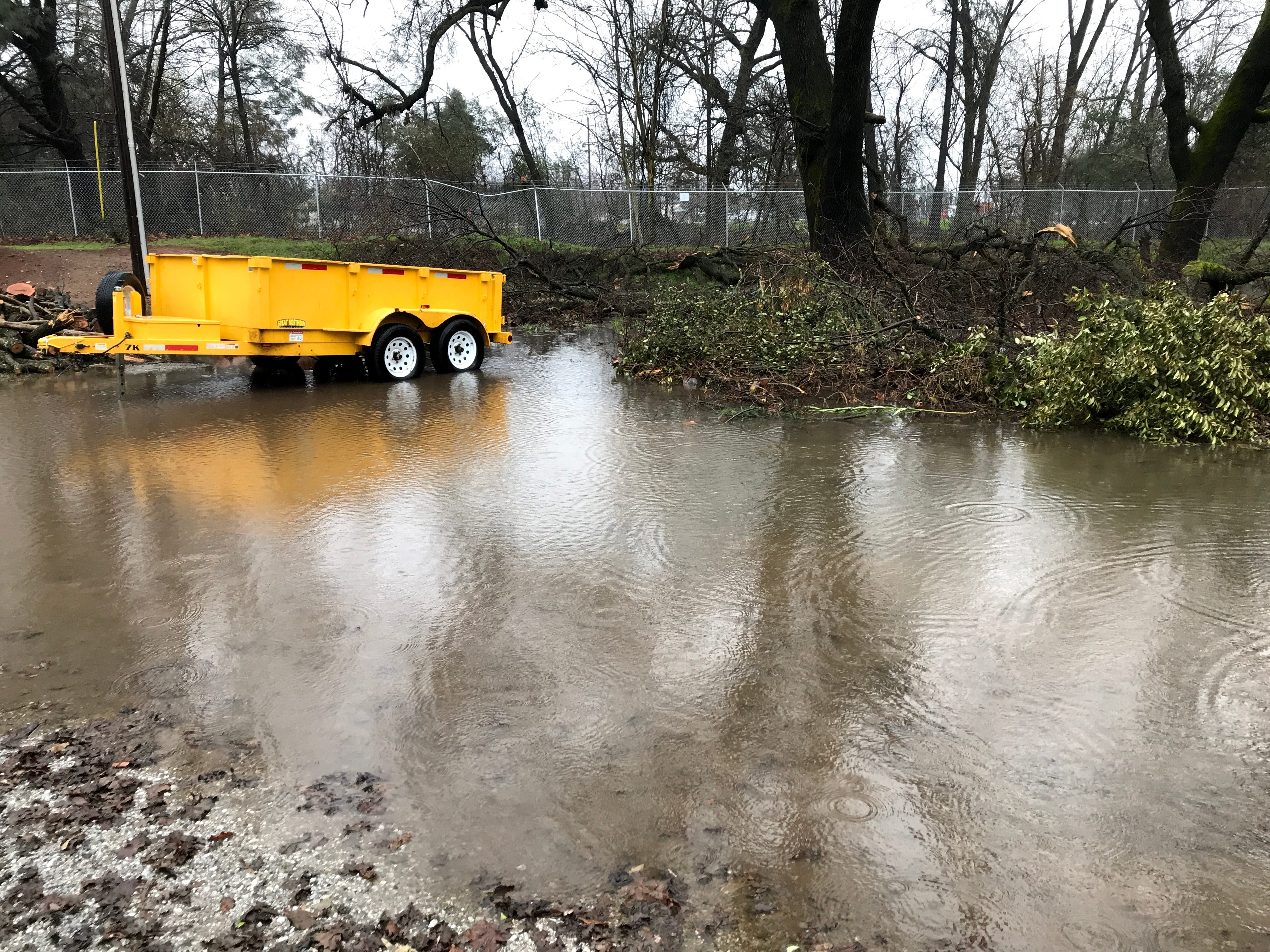 Standing water in south Redding on Wednesday, Feb. 27, 2019.