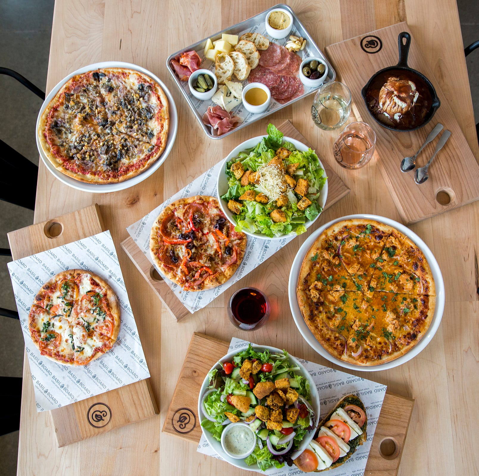 Personal pizza, anyone? Basil & Board adds lunch duos, new menu items