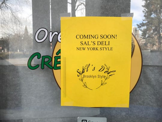A New York-style deli called Sal's will soon open in the former Oregon Crepe Cafe space at Pringle Plaza. Pictured here on Feb. 26, 2018.