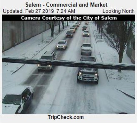 Snow has slowed traffic across Salem and northwest Oregon.