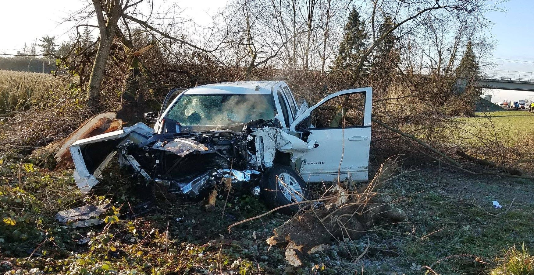 Troopers say a man in a white pickup ran several other drivers off the road on Interstate 5 Tuesday.