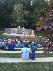 "Keizer Homegrown Theatre and Aumsville Community Theatre's collaboration of Shakespeare's ""The Tempest"" at Keizer Rotary Amphitheater in July 2018."
