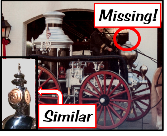 The Pocomoke City Volunteer Fire Company is looking for a missing ornate lamp from one of its historic fire engines. The item was last seen in roughly 30 years ago.