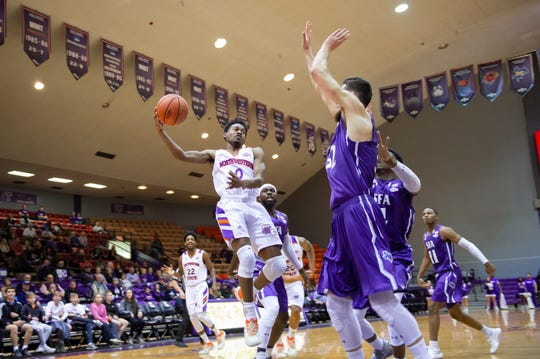 NSU's CJ Jones (0) and the Demons have four games left in the regular season.