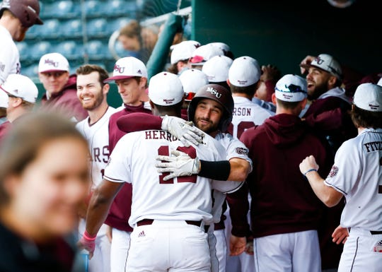 The Missouri State Bears take on the Central Arkansas Bears at Hammons Field on Tuesday, Feb. 26, 2019.