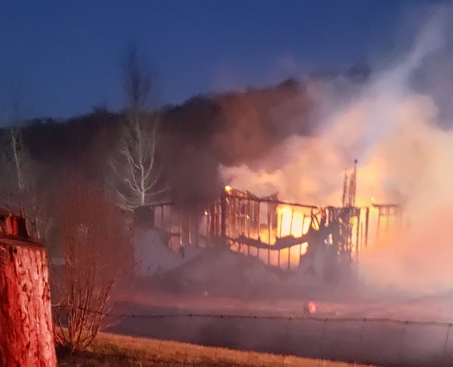 A fire Monday morning destroyed a home at 3035 Pond Gap Lane in Craigsville.