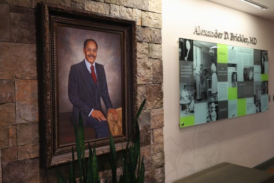 A painting of Dr. A.D. Brickler hangs in the Tallahassee Memorial Hospital Women's Pavilion that is named after him.