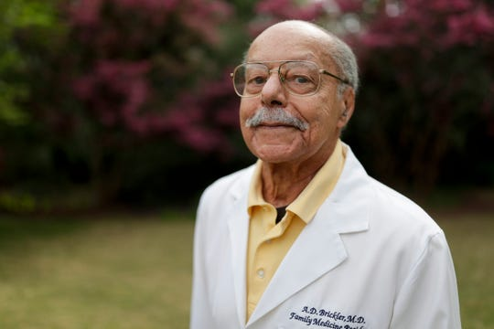 "Dr. Alexander Dumas ""A.D."" Brickler, 90, is retiring from Tallahassee Memorial Hospital, where he is estimated to have delivered more than 30,000 babies."