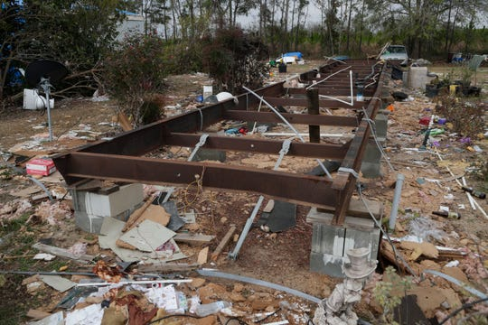 Mariana's Quincy mobile home was destroyed by Hurricane Michael.