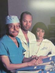 Dr. A.D. Brickler with son, Dr. A.J. Brickler and daughter, Dr. Celeste Hart.