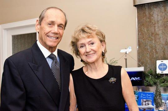 John and Marianne Grofcsik attend the Treasure Coast Chapter of World Wings International Christmas Gala at the Stuart Corinthian Yacht Club.