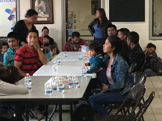 Caminos de Vida church in El Paso is taking care of 150 immigrants, mostly from Honduras, who were dropped off at the church Tuesday, Feb. 26, 2019.