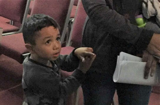 Children are among the immigrants who were left Tuesday, Feb. 26, 2019, at the Caminos de Vida church in El Paso's Lower Valley. The church is asking the community for donations to help the immigrants.