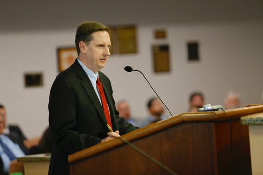 Joe Gudenrath, executive director of the Downtown Management District, asks that businesses in the DMD and north of Paisano Drive be exempt from noise ordinance changes during Tuesday's City Council meeting.