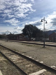 Looking toward the Santa Paula Train Depot.