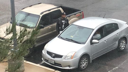 Police released this photo of suspect Christopher Rommel Besu and the truck they said he is known to drive.