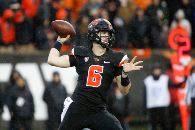 Jake Luton, who starred at Ventura College, started five games last season for Oregon State. He hopes to be the Beavers' starting QB this season.