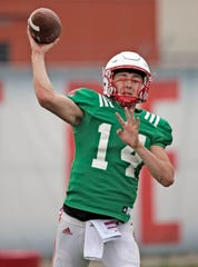 Former Calabasas High star Tristan Gebbia transferred to Oregon State from Nebraska last year and will compete for playing time at quarterback for the Beavers.