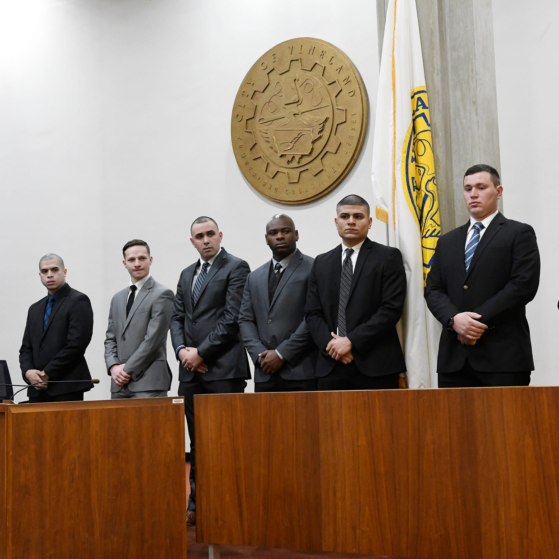 Eight new Vineland police officers take oath in City Hall ceremony