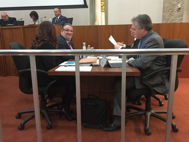 Vineland Mayor Anthony Fanucci (far left) was at the City Council on Tuesday night for introduction of the 2019 preliminary budget.