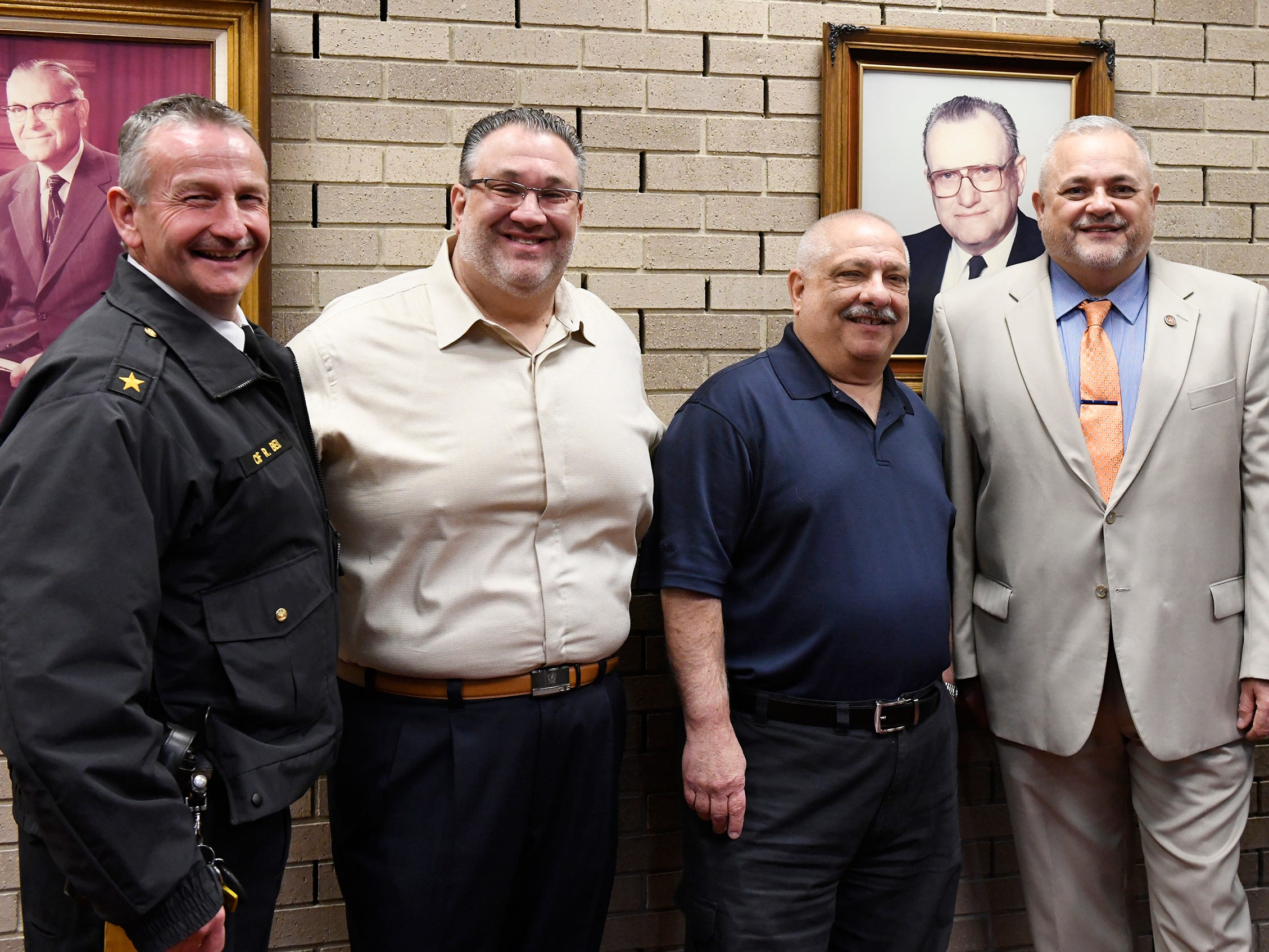 Mayor Anthony Fanucci swore in eight police officers at Vineland City Hall on Wednesday, Feb.27, 2019.