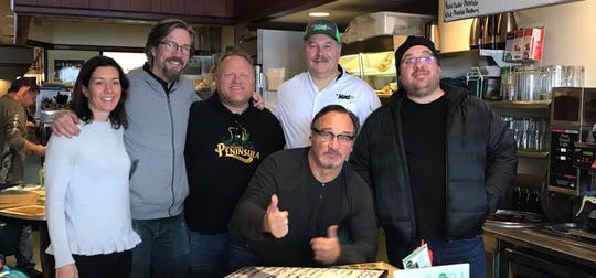 Jim Belushi poses for a photo at The Mint Cafe in downtown Wausau Wednesday morning, Feb. 27, 2019.