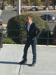 Jerry Seinfeld outside City Limits Diner in White Plains.