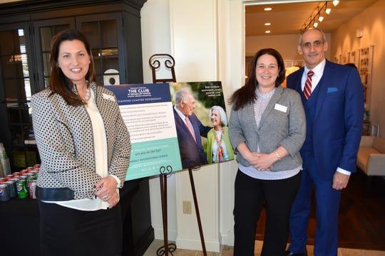 From left, Development Sales Specialist Jill Haushalter; Move-In Coordinator Maggie Everlith and Executive Director John Muzio
