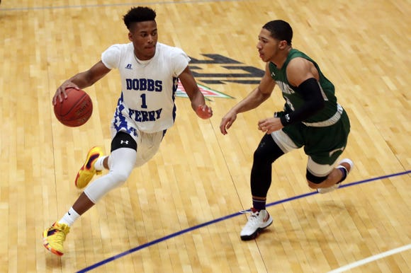 Dobbs Ferry defeated Woodlands 67-55 in the Class B semifinal at the Westchester County Center in White Plains  Feb. 26,  2019.