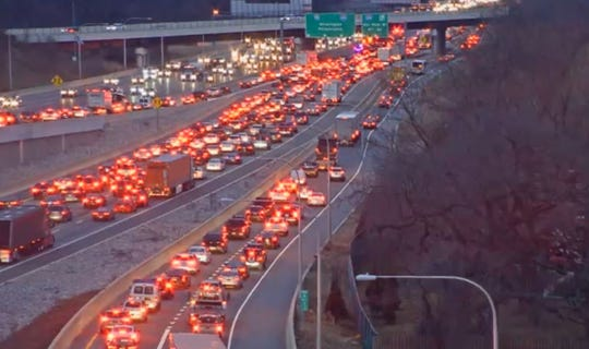 A crash has traffic crawling on Wednesday's evening commute.