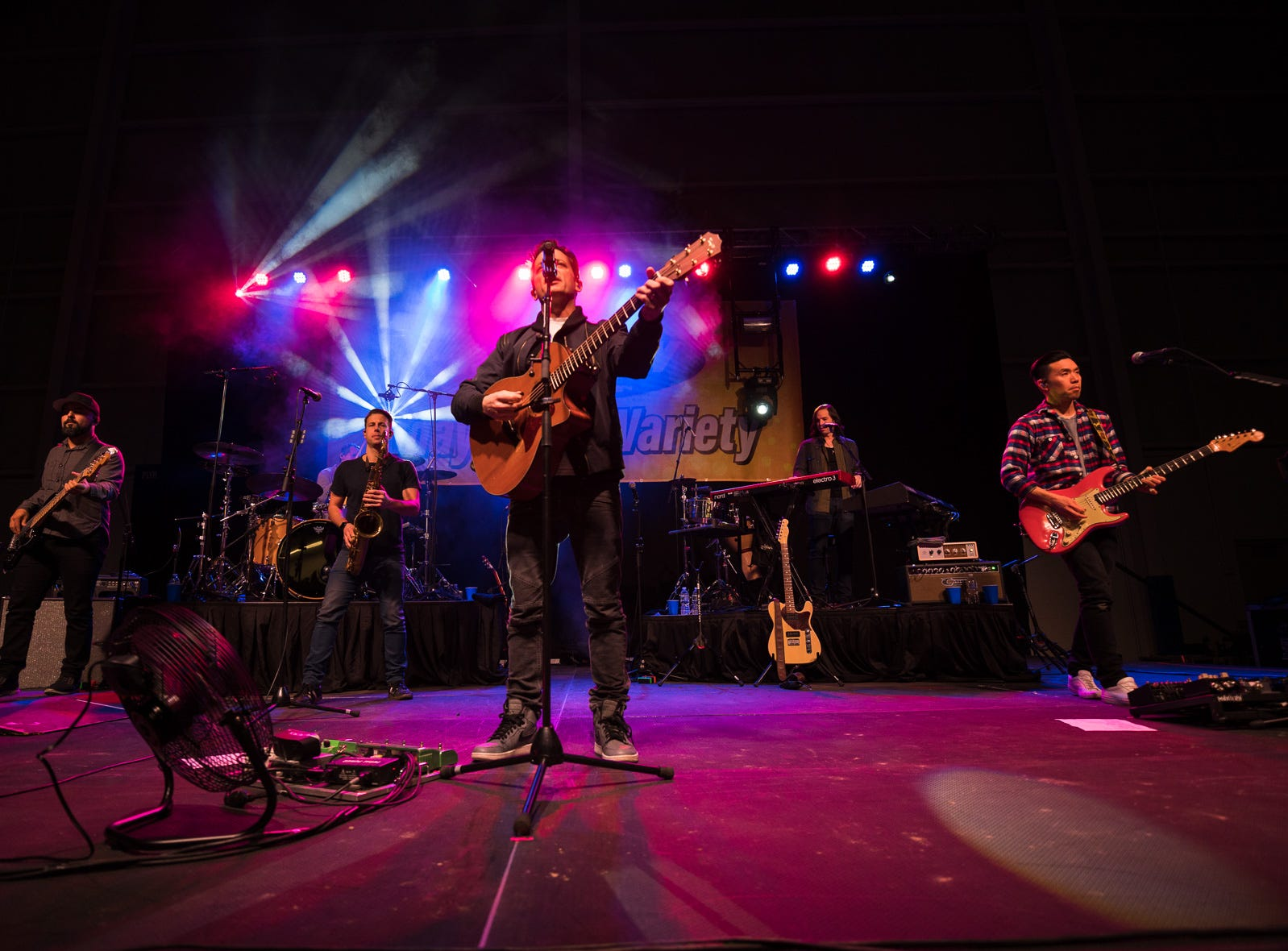 Maryland rockers O.A.R. were the first act to perform at the new 76ers Fieldhouse in Wilmington on Feb. 16.