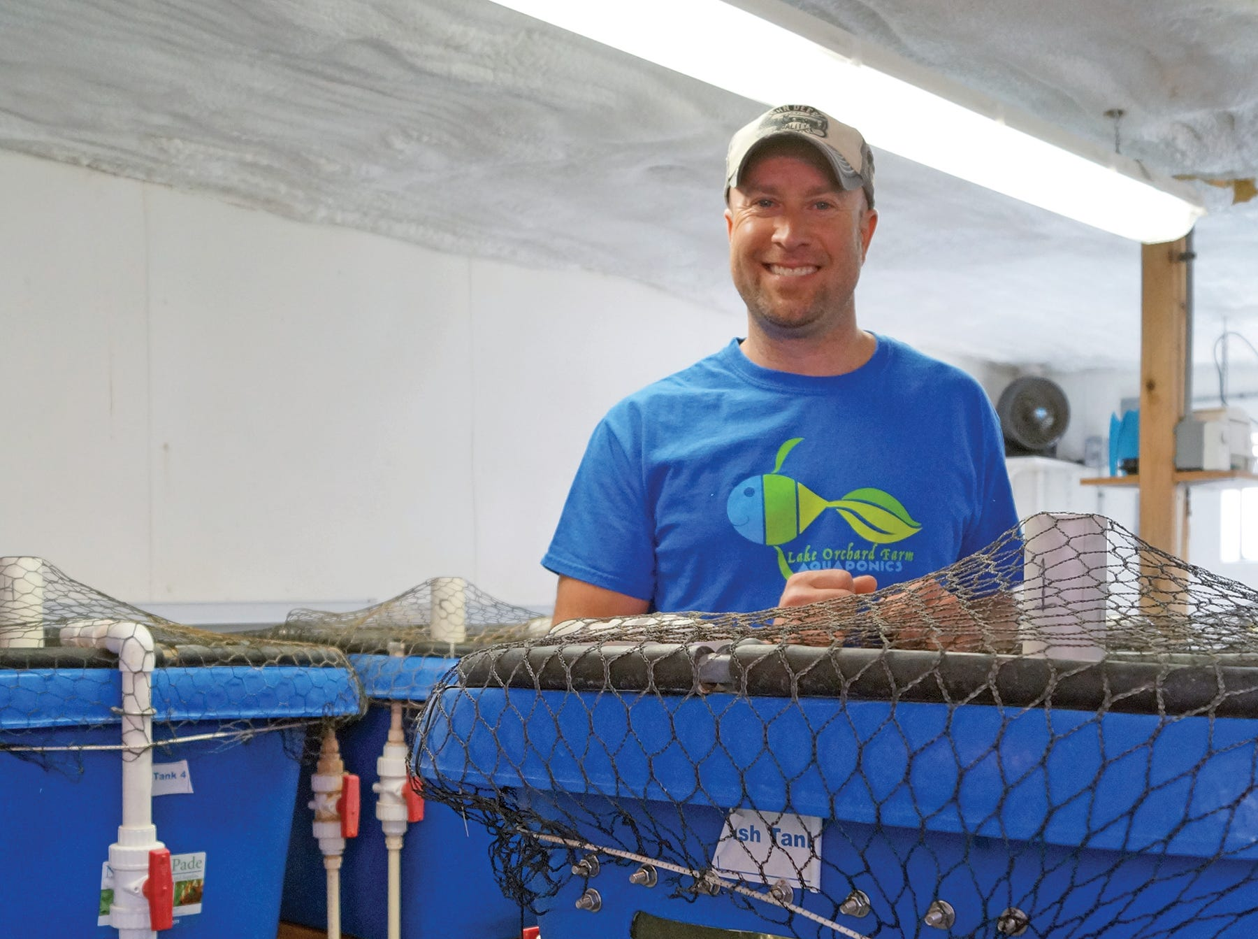 Nate Calkins says that aquaponics attracted him due to its stability and sustainability.
