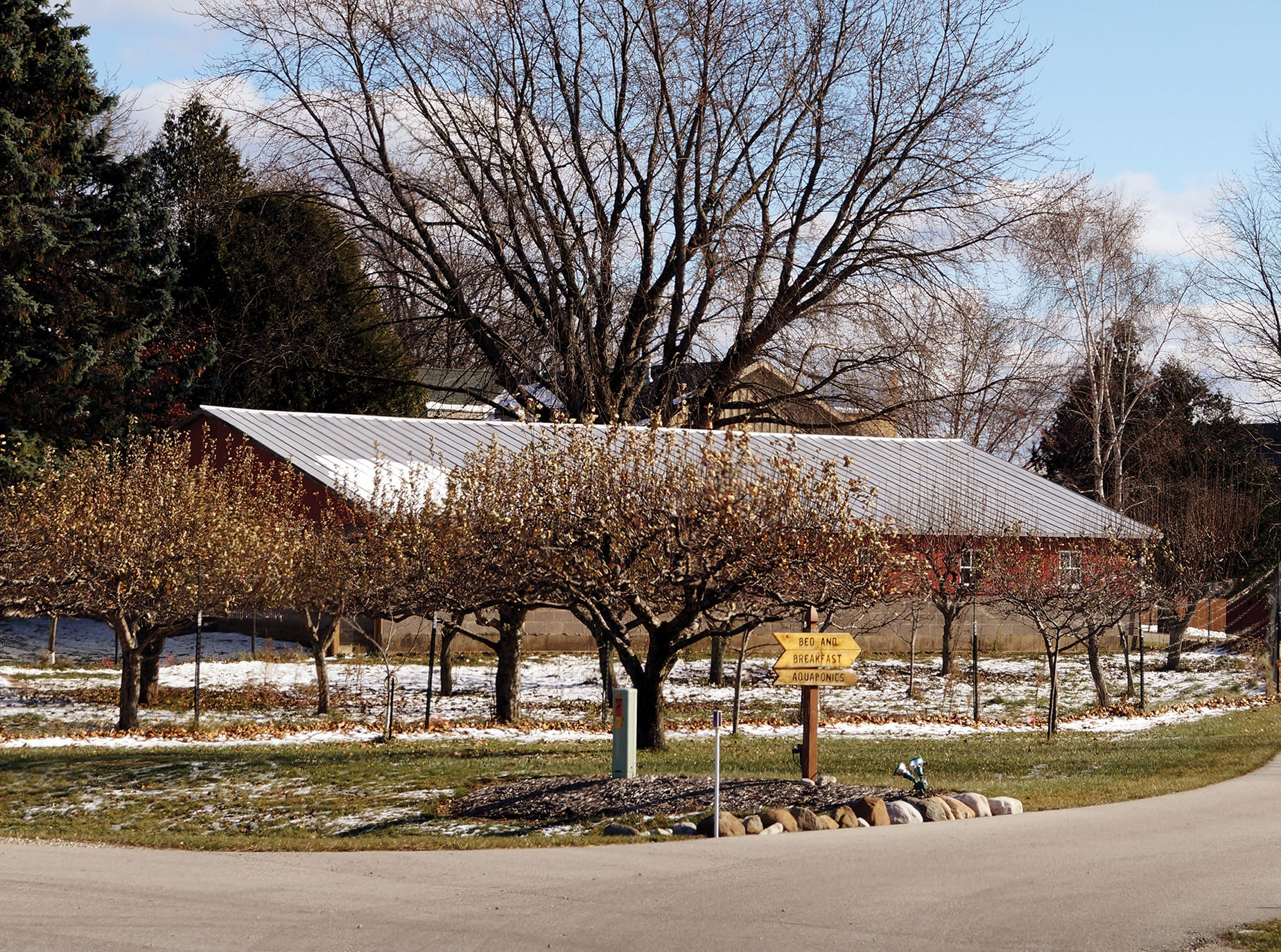 Besides aquaponics, Nate and Mary also have an event barn and manage a bed and breakfast.
