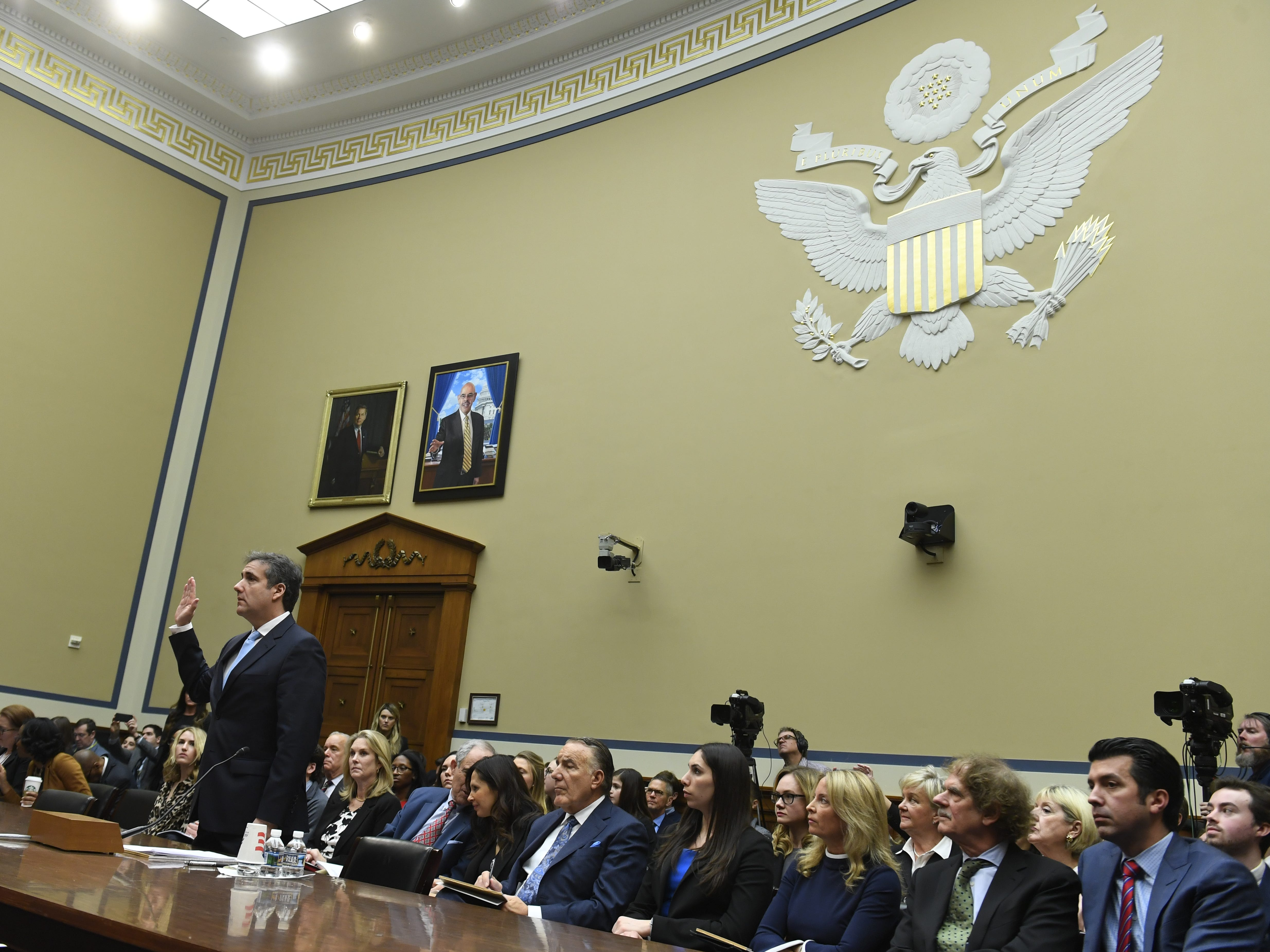 Michael Cohen, President Donald Trump's longtime personal attorney, testifies before the House Committee on Oversight and Reform on Feb. 27, 2019 in Washington.